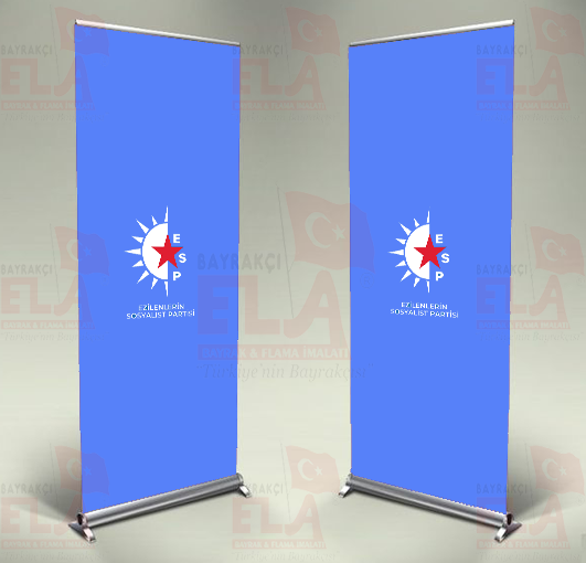 Ezilenlerin Sosyalist Partisi Banner Roll Up