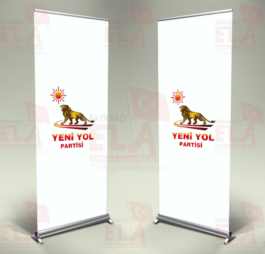 Yeni Yol Partisi Banner Roll Up